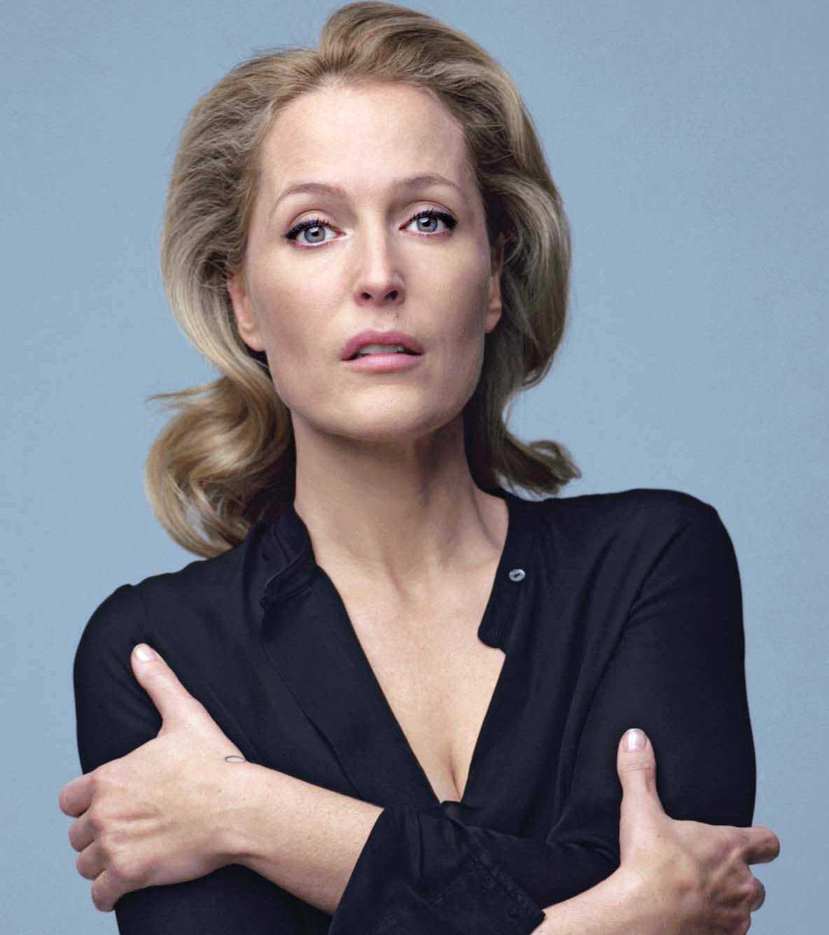Gillian Anderson Chases Her Shadow