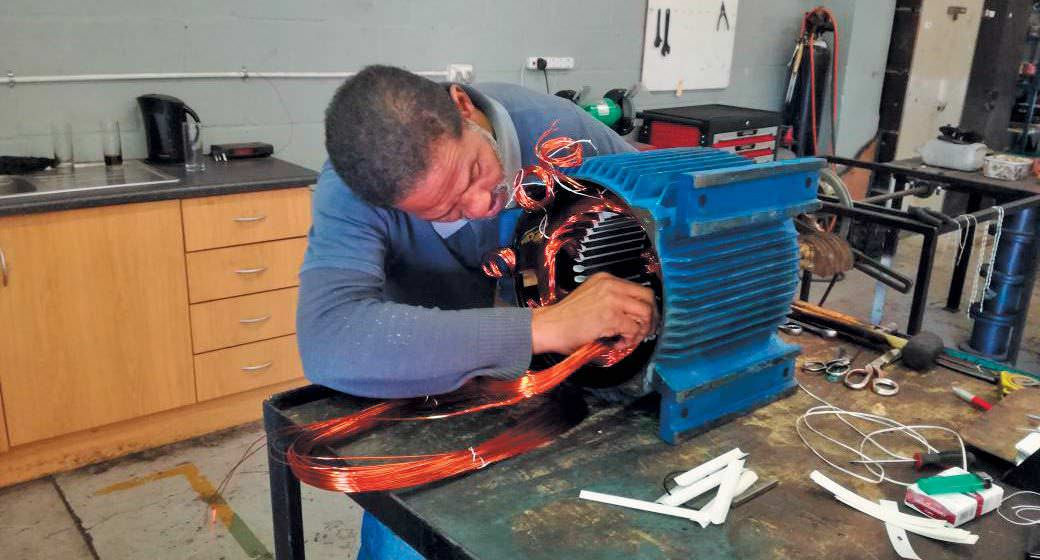 Drakenstein rewinds keeps motors running in the boland for Small electric motor repair near me