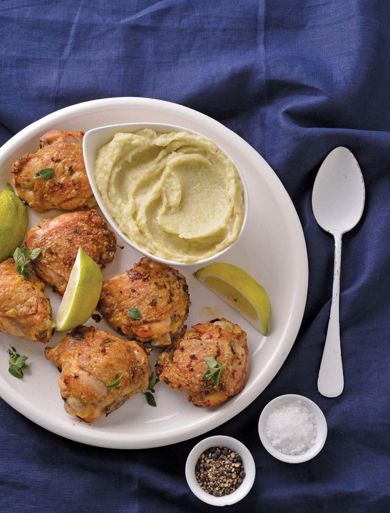 Chicken Thighs With Cauliflower And Leek Mash