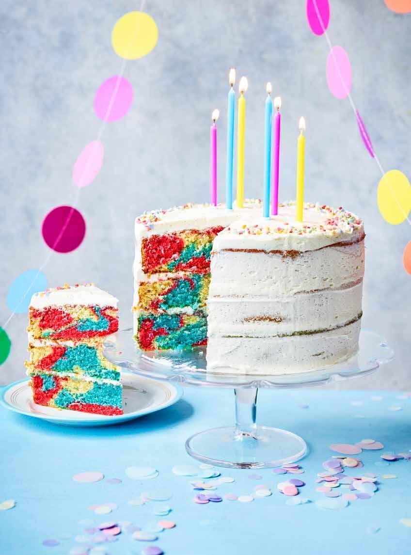 Rainbow Zebra Cake