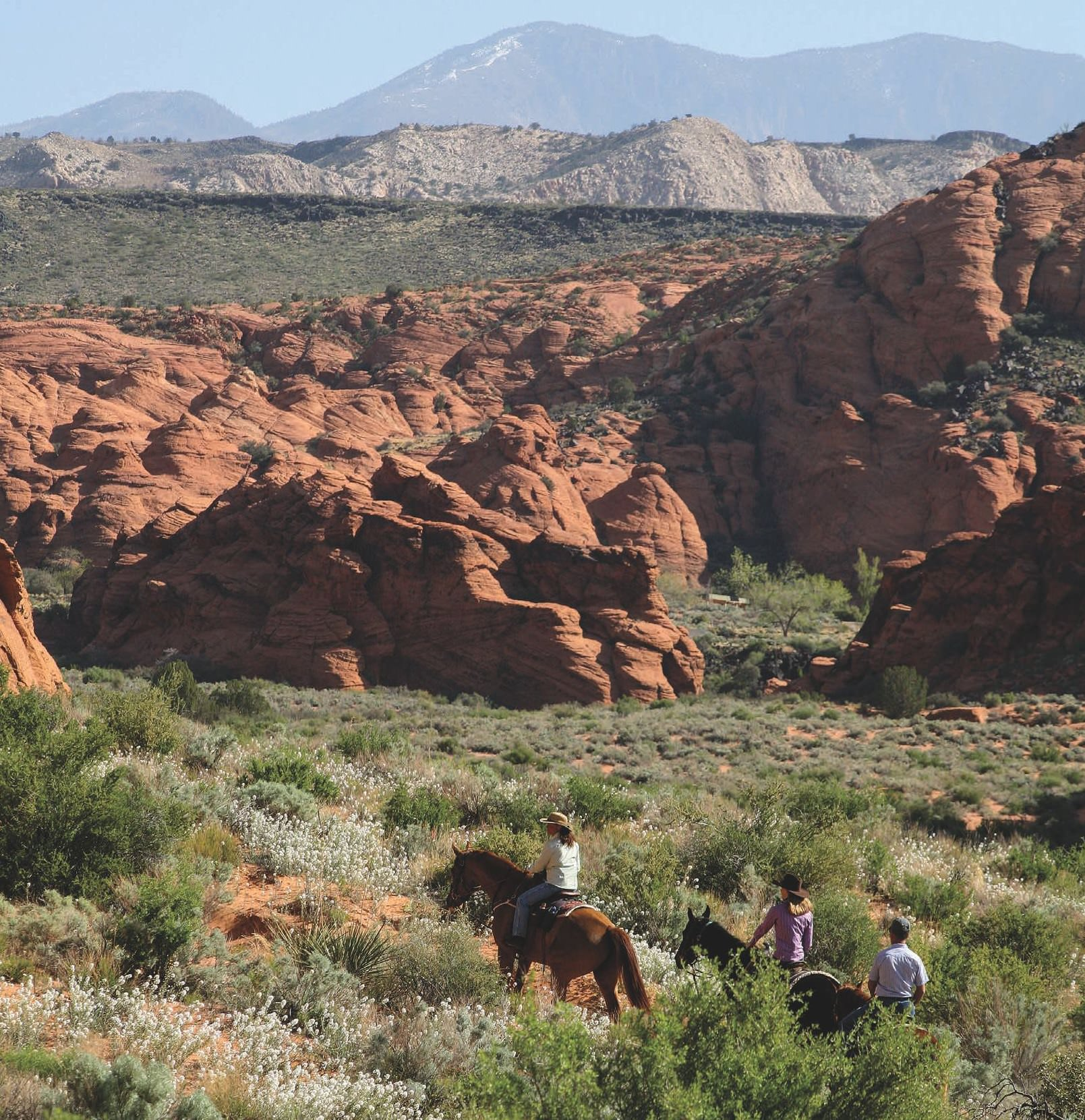 Riding Into The Sunset At Snow Canyon
