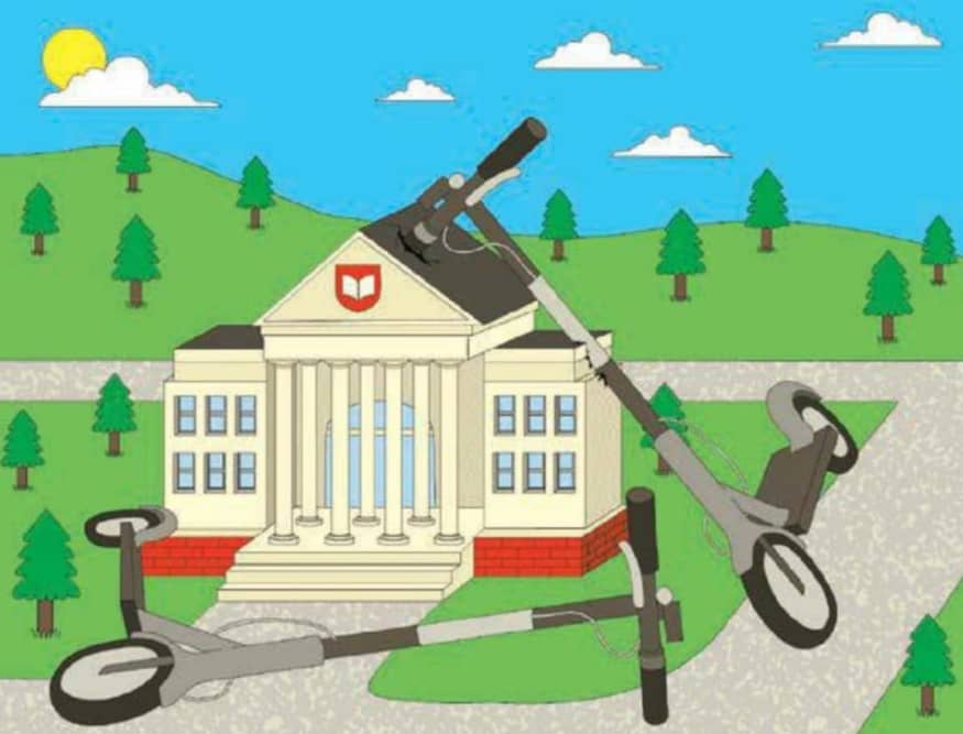Colleges Cope With Scooter Startups