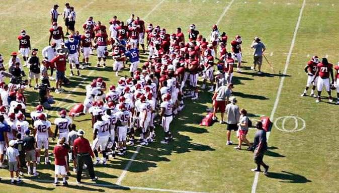 Football's Rite of Passage - The Oklahoma Drill