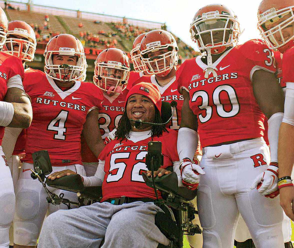 A Hit Left Eric LeGrand Paralyzed, But His Love Of Football Endures
