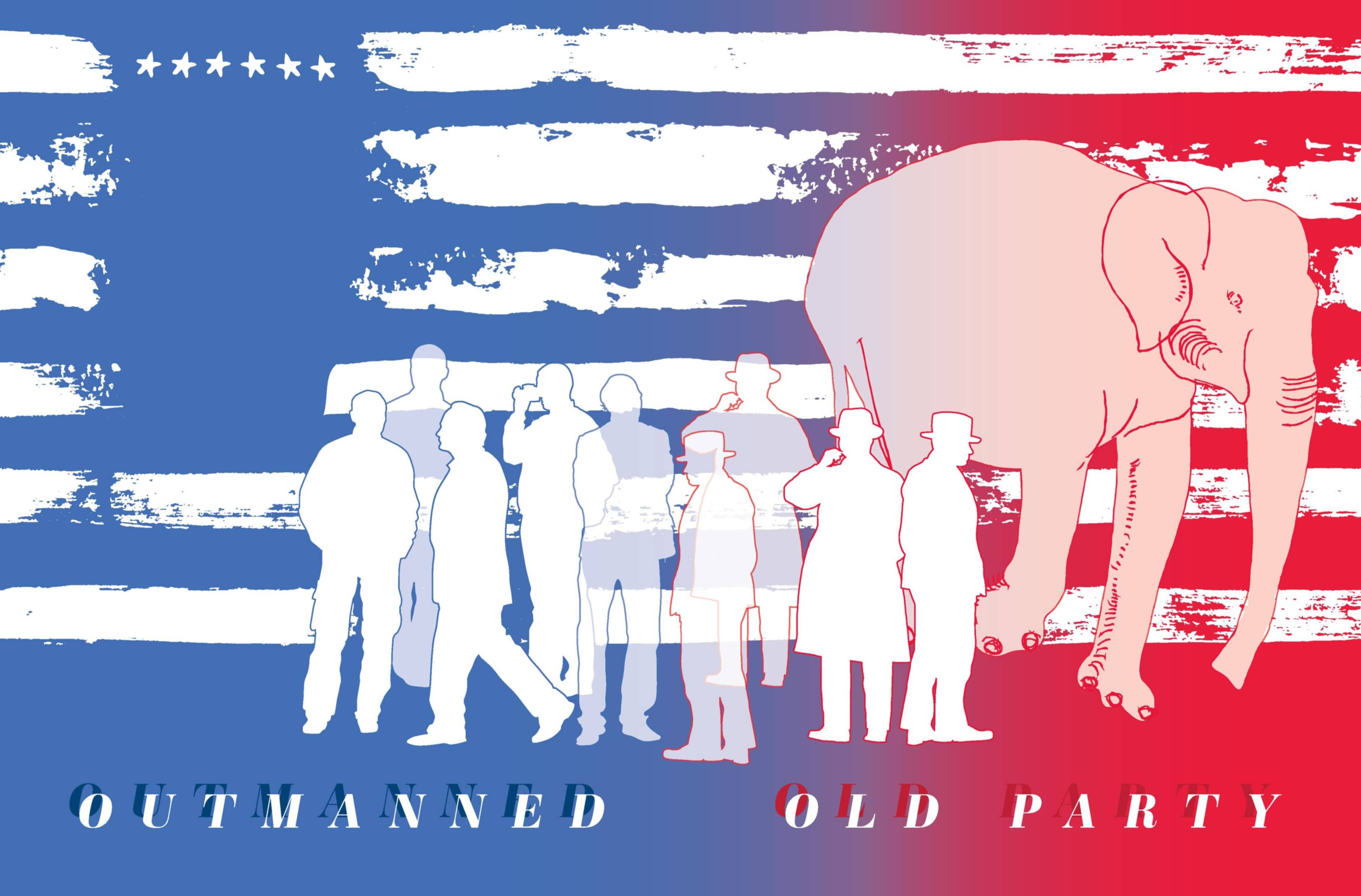 OUTMANNED OLD PARTY
