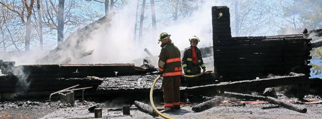 Fire levels summer home in Surry