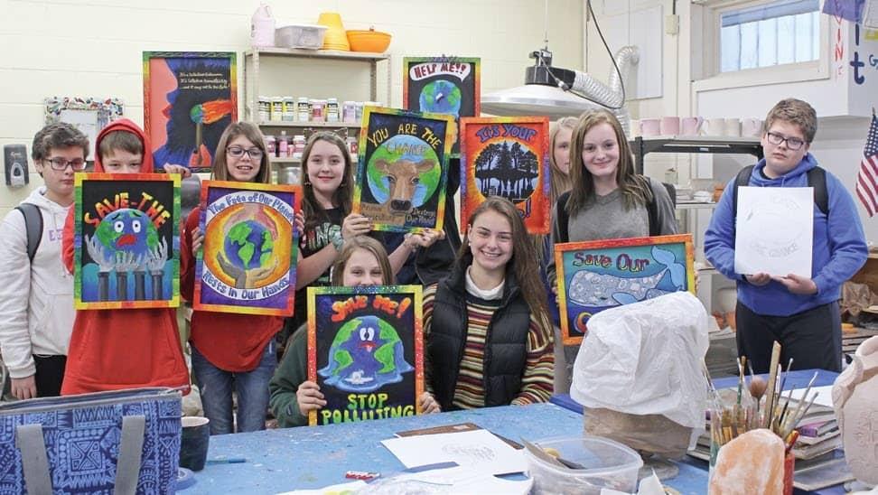 DISHS Artwork Raises Global Warming Awareness