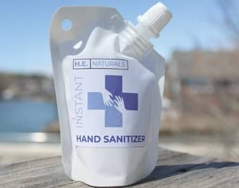 Hand sanitizer now an island giveaway