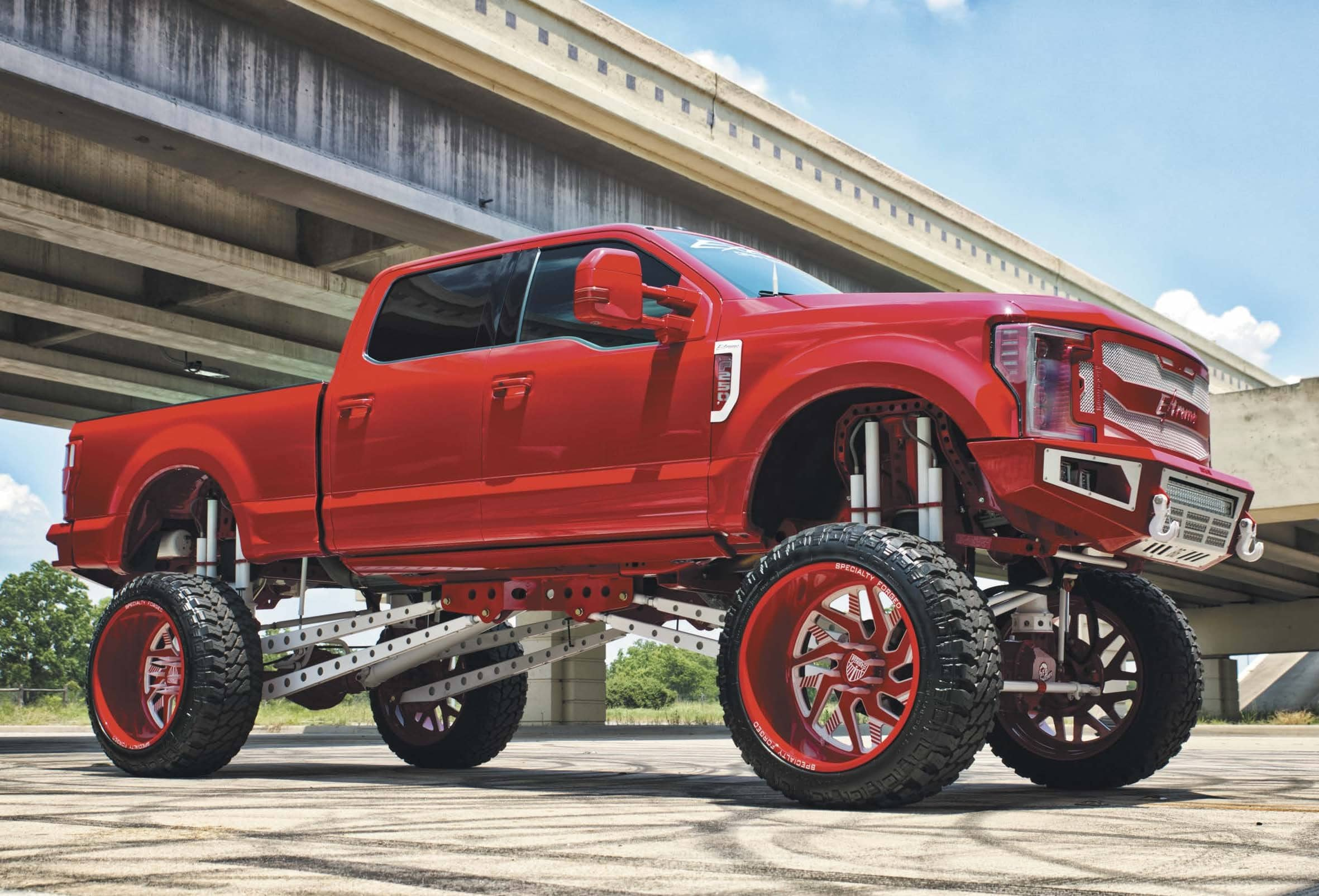 Jordan O'krinsky's Big, Red, Extreme 2018 Ford F-250