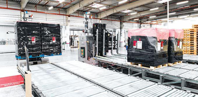 Interroll Optimises Loading Platforms Handling At Its EVIAN Plant