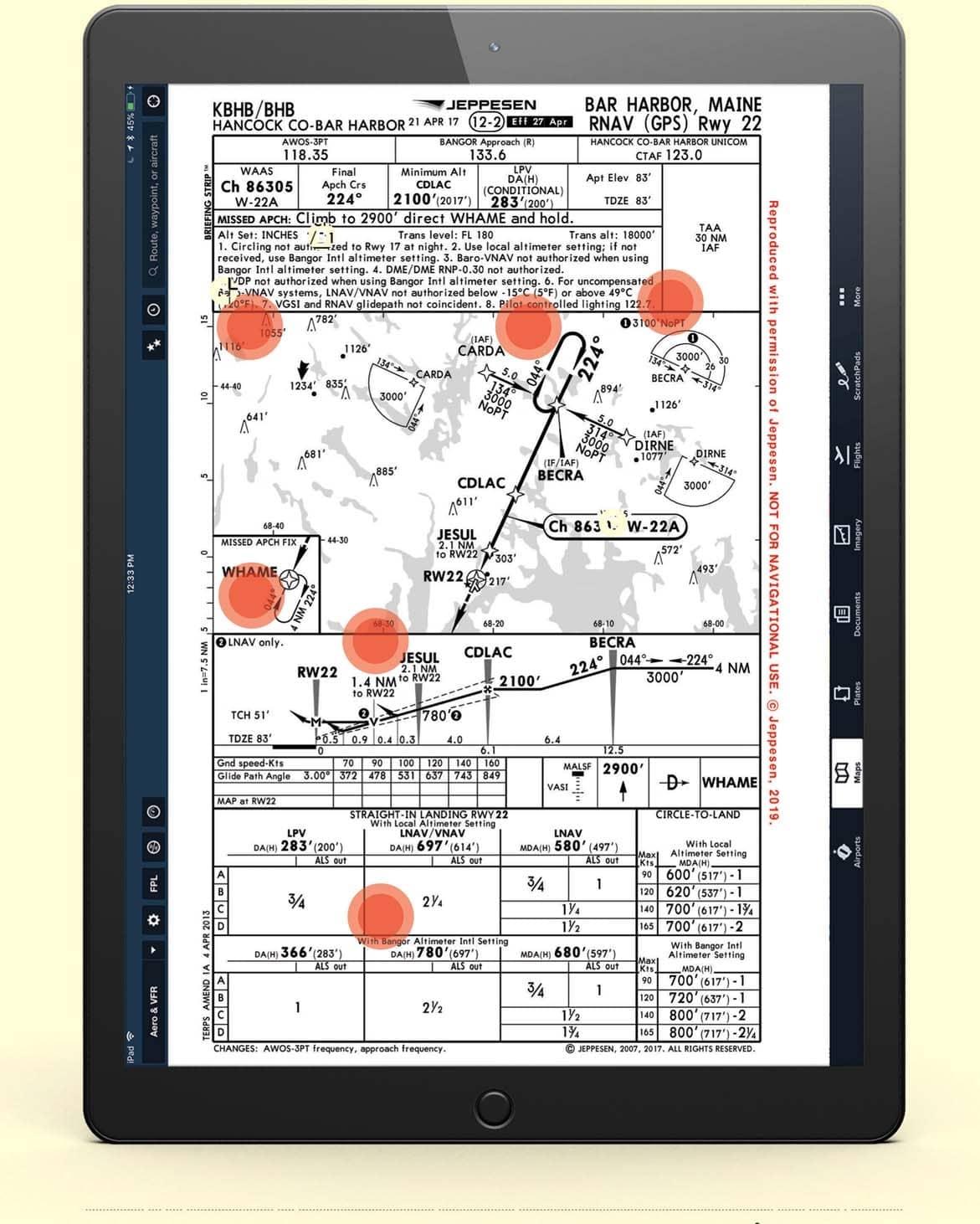 BAR HARBOR, MAINE, RNAV (GPS) RWY 22