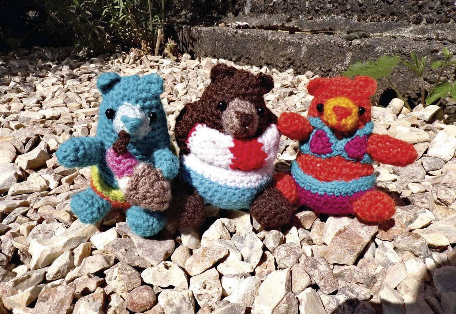 Immersed in crochet
