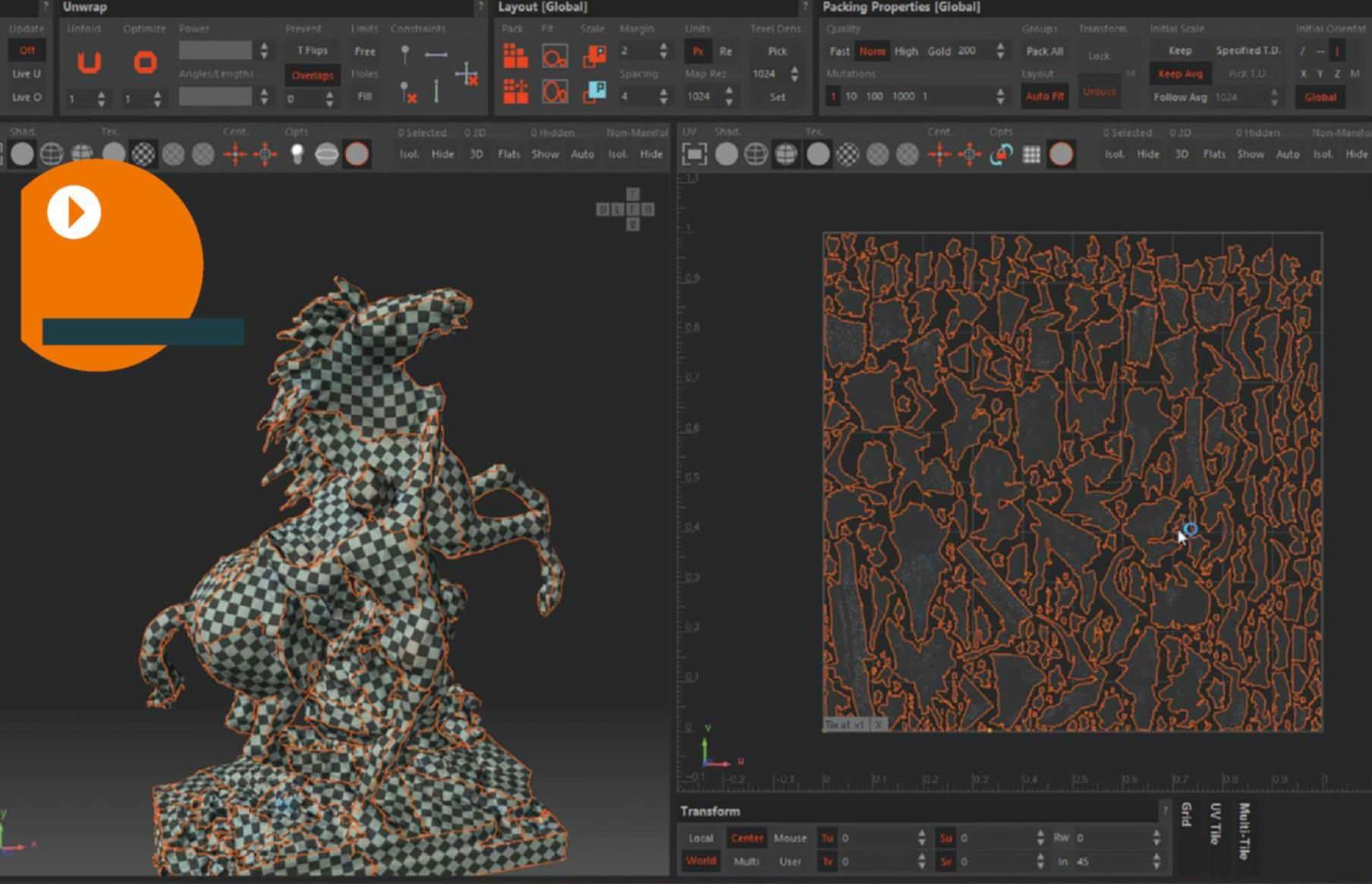 Unfold3D Virtual Spaces