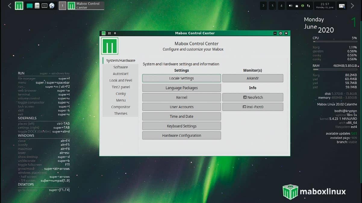 Mabox Linux 20.02