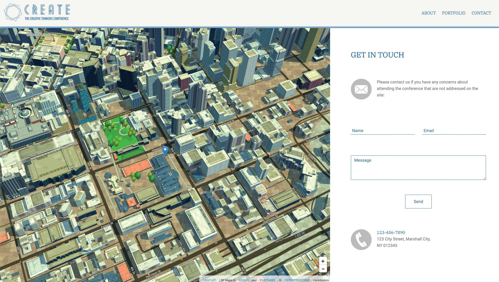 CREATE ANIMATED 3D MAP CONTACT PAGES