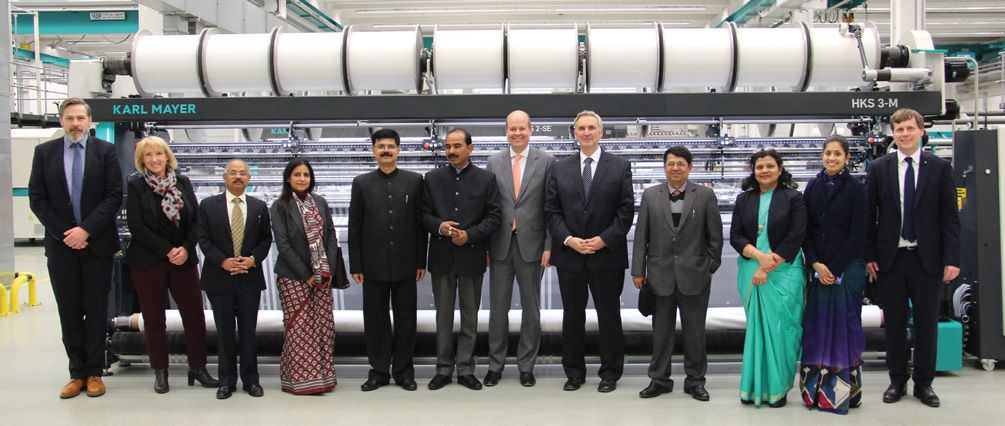 Ajay Tamta Visits Karl Mayer's Germany Office