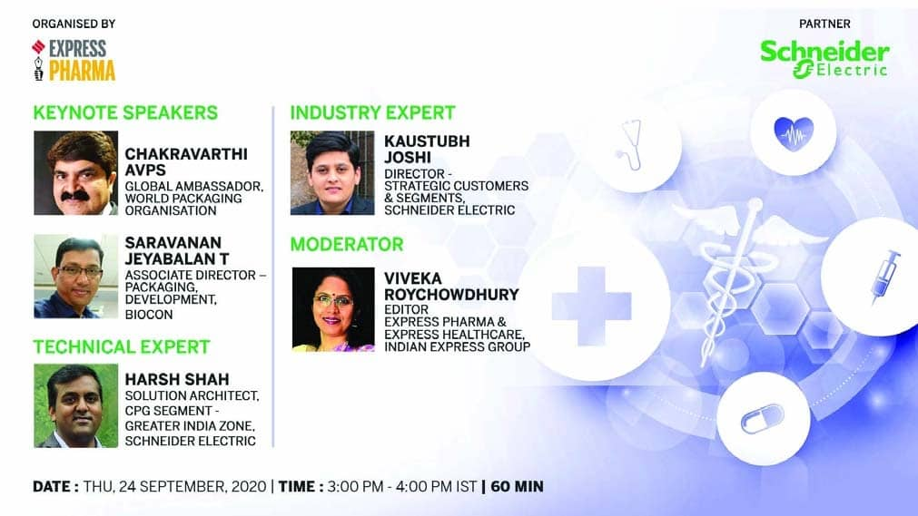 Express Pharma and Schneider Electric organise webinar on smart pharma packaging technologies