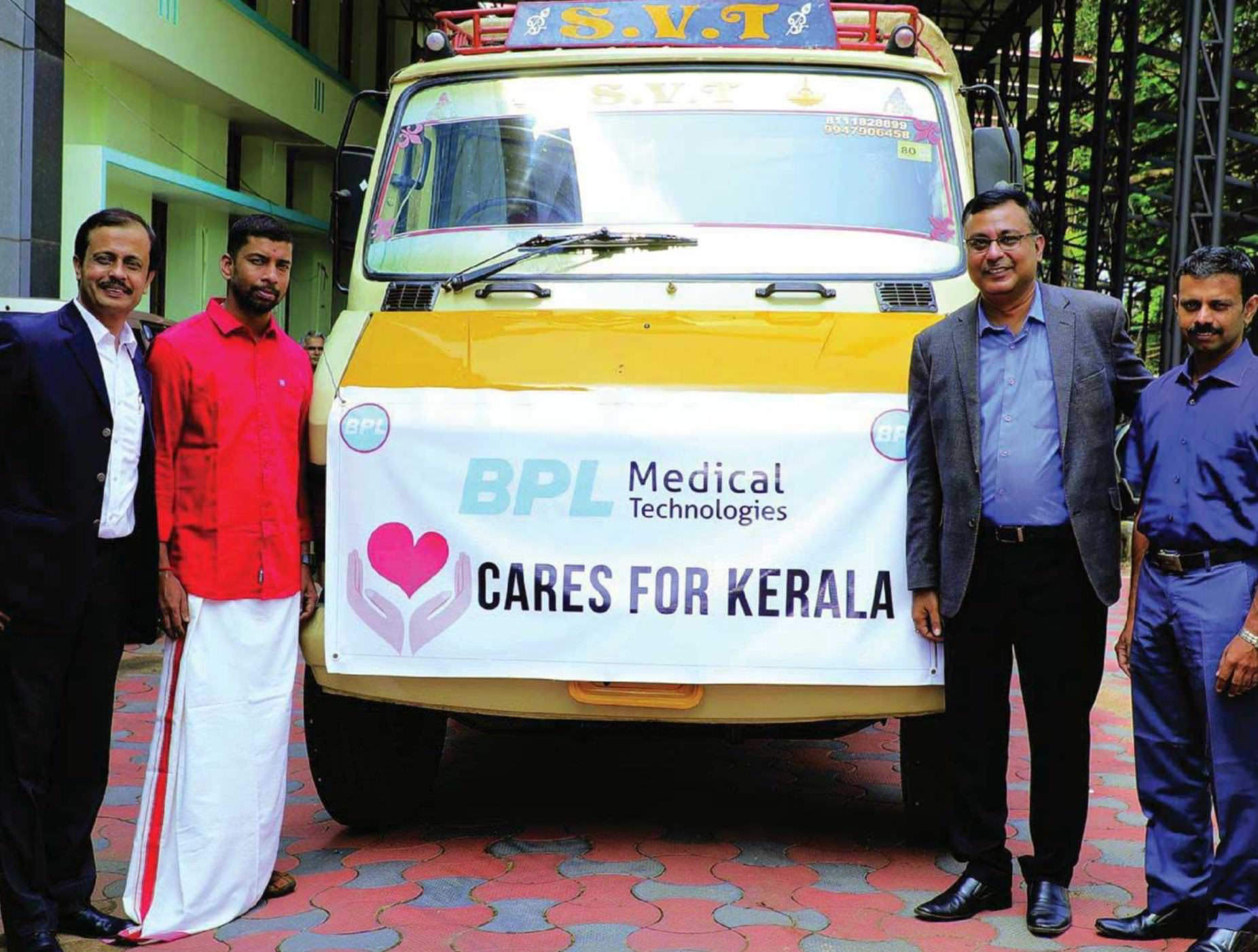 BPL Medical Technologies' Delivers Medical Devices As Part Of ' Care For Kerala' Campaign