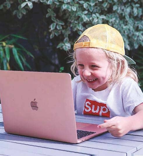 My five-year-old is a tech whizz
