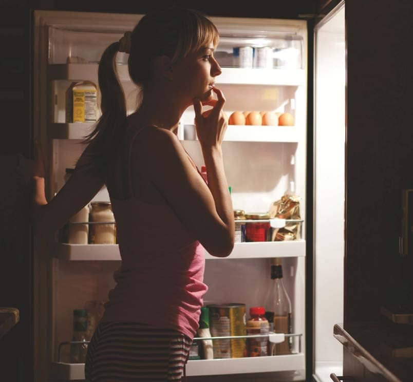 Say no to late-night noshing
