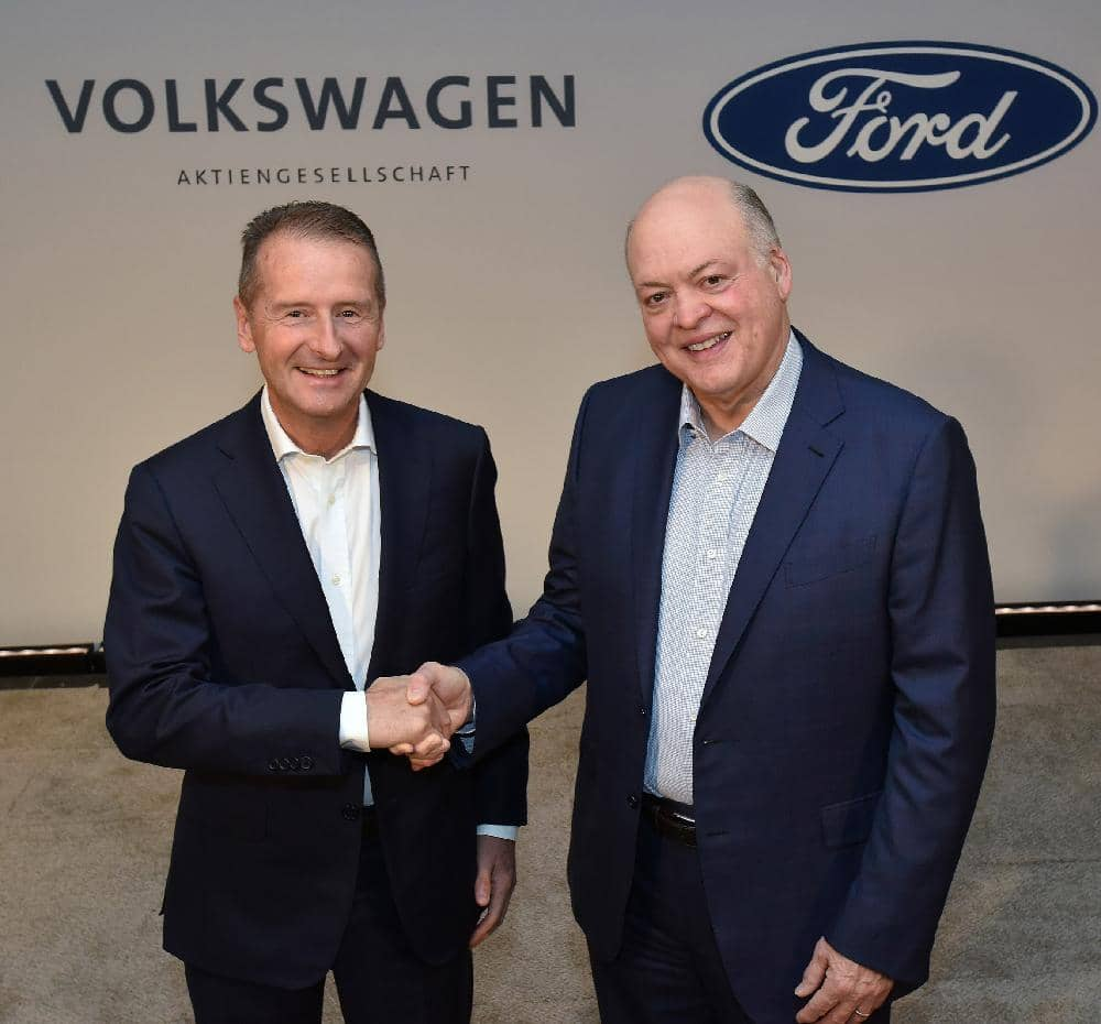 FORD, VW TO COLLABORATE ON VANS, PICKUP, ELECTRIC VEHICLE