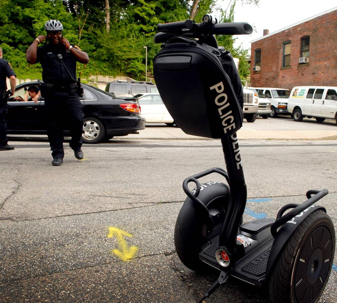 SEGWAY, POPULAR WITH POLICE BUT NOT THE PUBLIC, HITS BRAKES