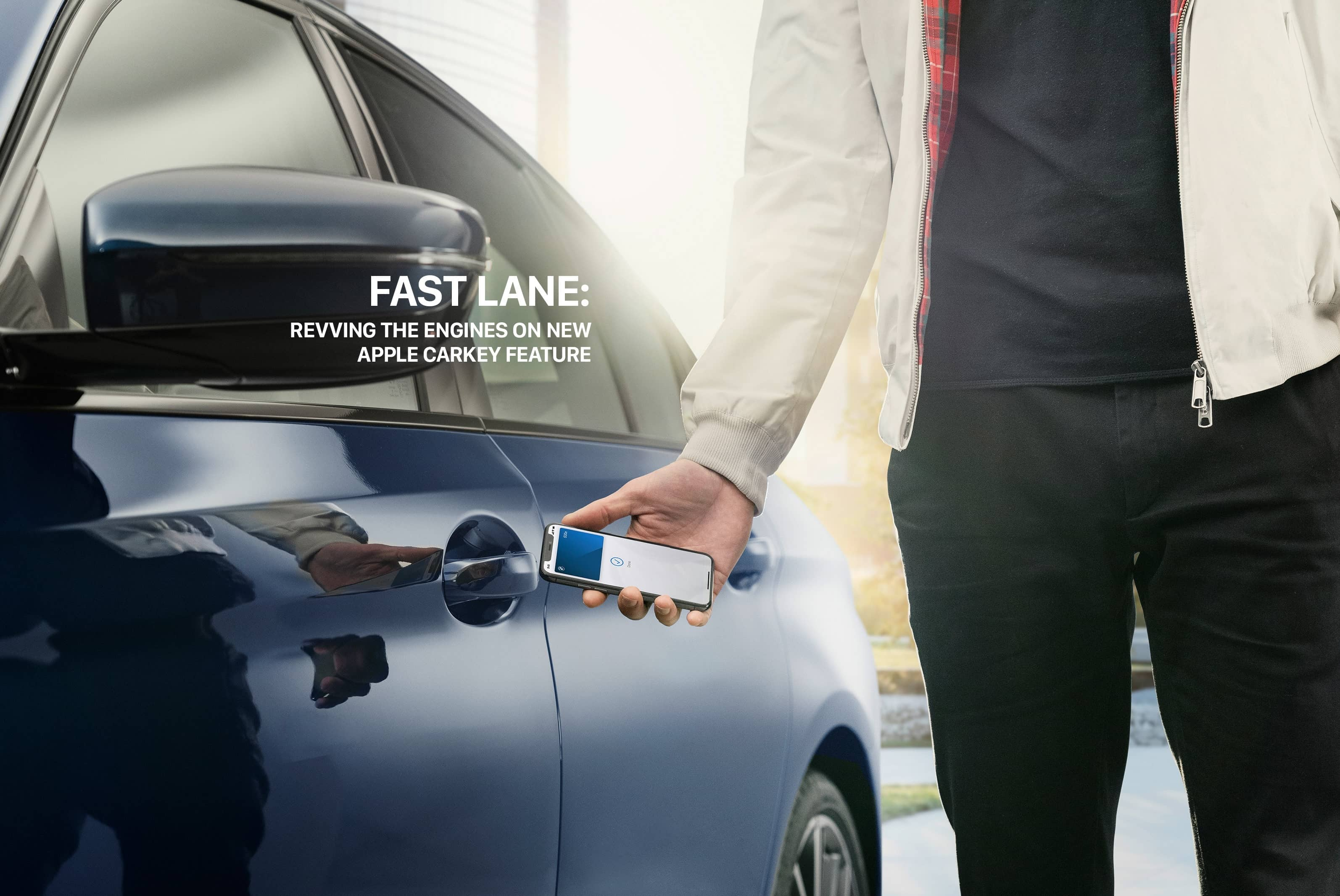 FAST LANE: REVVING THE ENGINES ON NEW APPLE CARKEY FEATURE