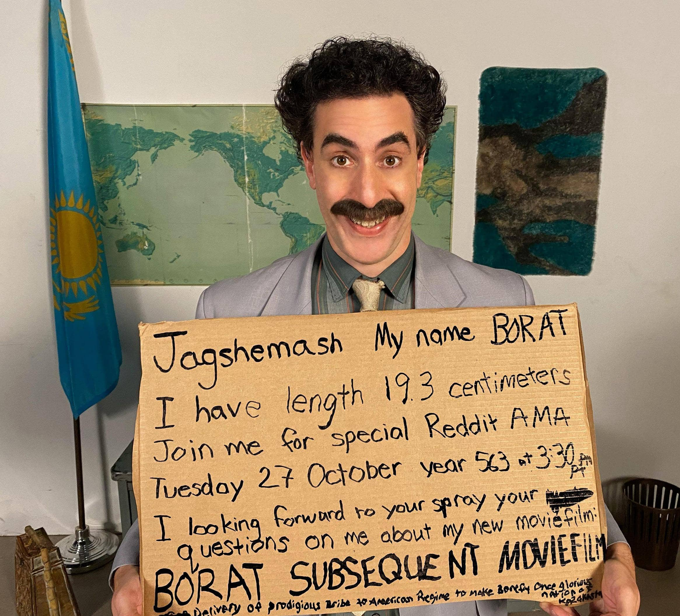 BORAT IS BACK, AND THIS TIME HE FITS RIGHT IN