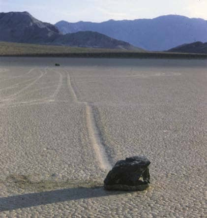 "GEOLOGY 101 - The ""Sailing Stones"" of Death Valley: How a Mystery was Resolved"