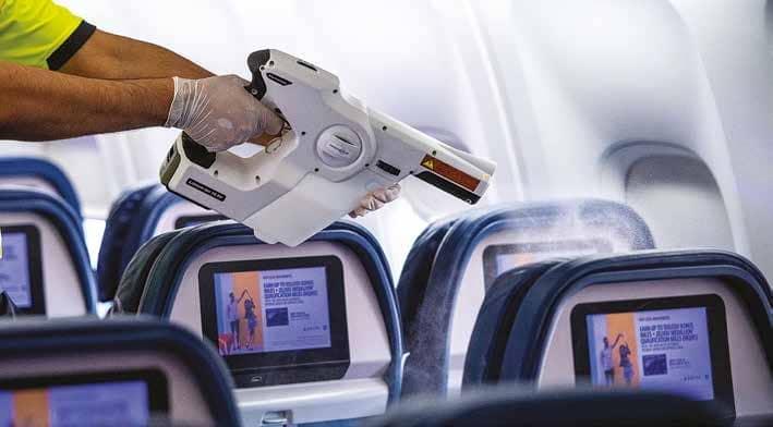 AIRCRAFT SANITISING TECHNIQUES