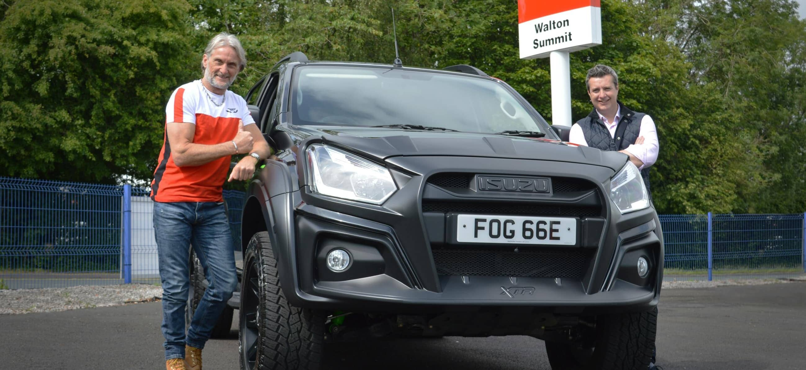 Carl Fogarty goes from on-track racing to offroad adventure with Isuzu