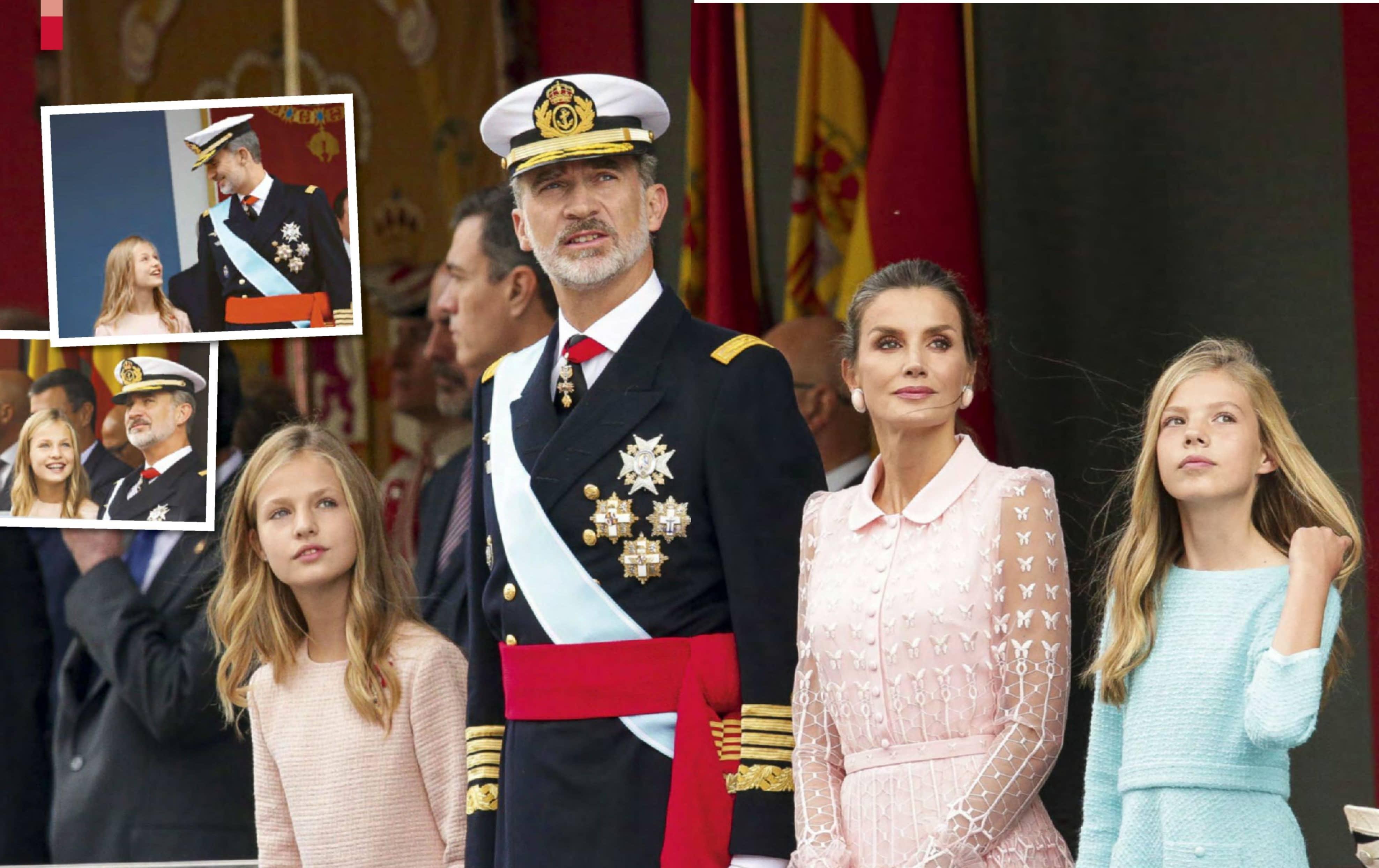 Los Reyes Y Sus Hijas Presiden La Fiesta Nacional