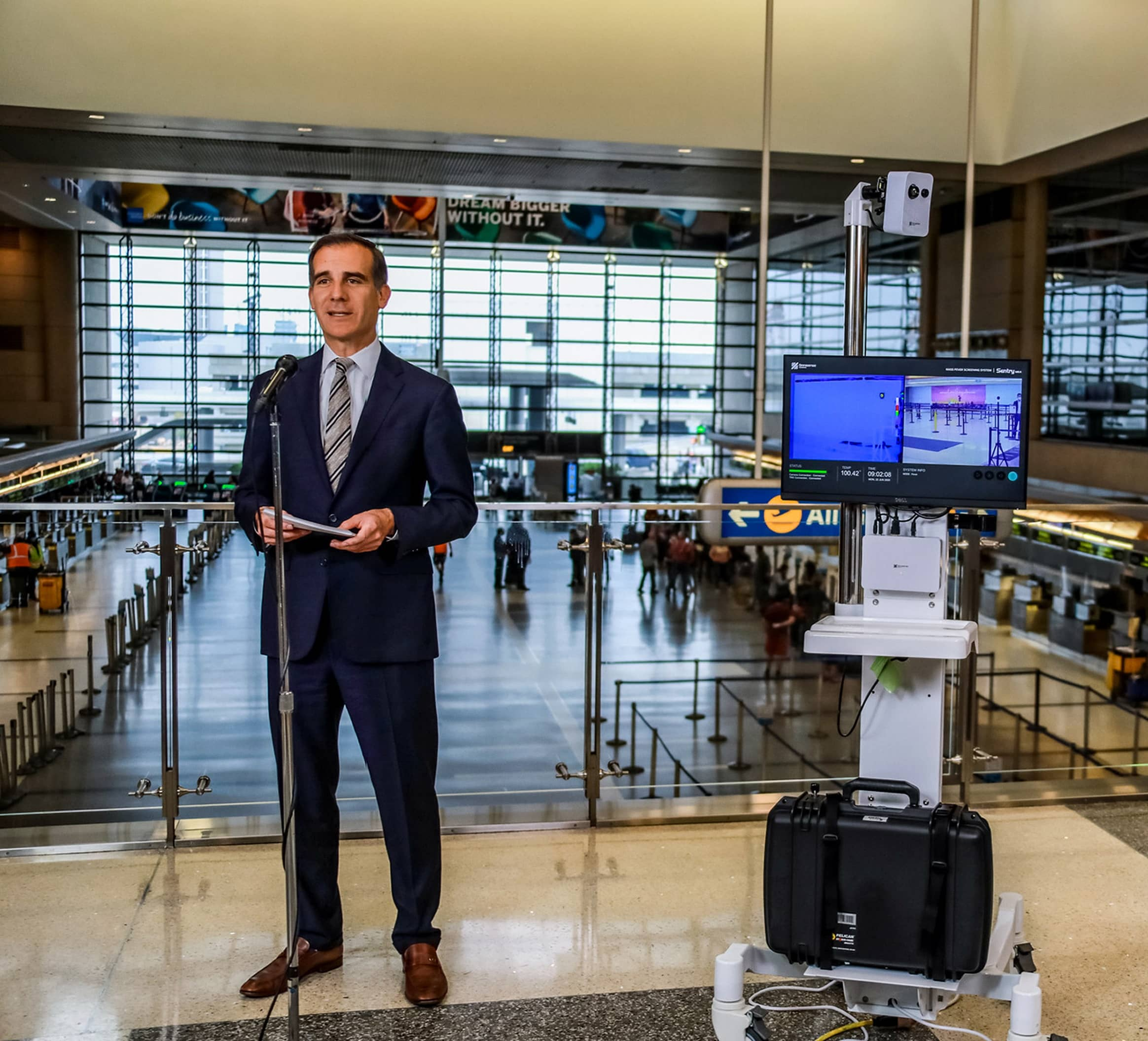 LAX TESTS THERMAL CAMERAS FOR DETECTING FEVERS IN TRAVELERS