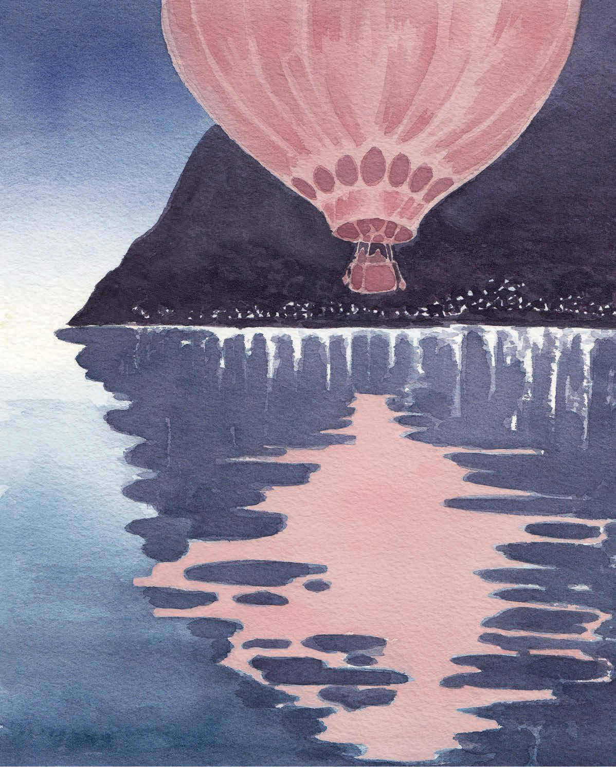 Over The Alps By Balloon
