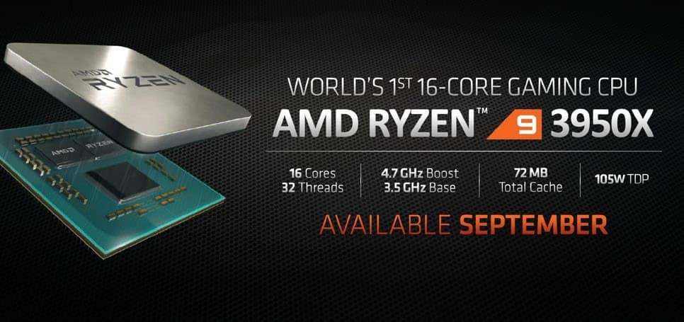 Amd S Ryzen 9 3950x Is A 16 Core Cpu Aiming To Topple Intel S Gaming Dominance