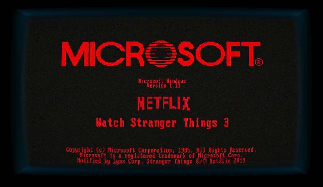 Microsoft's Retro Windows Teasers Emerge As A Stranger Things Promo: The Windows 1.11 App