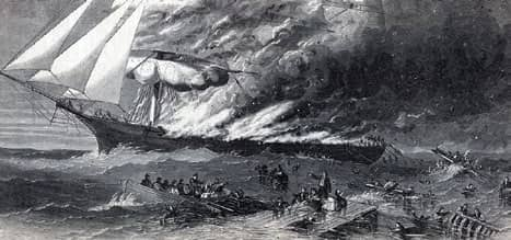 Mid-ocean plague ship disaster