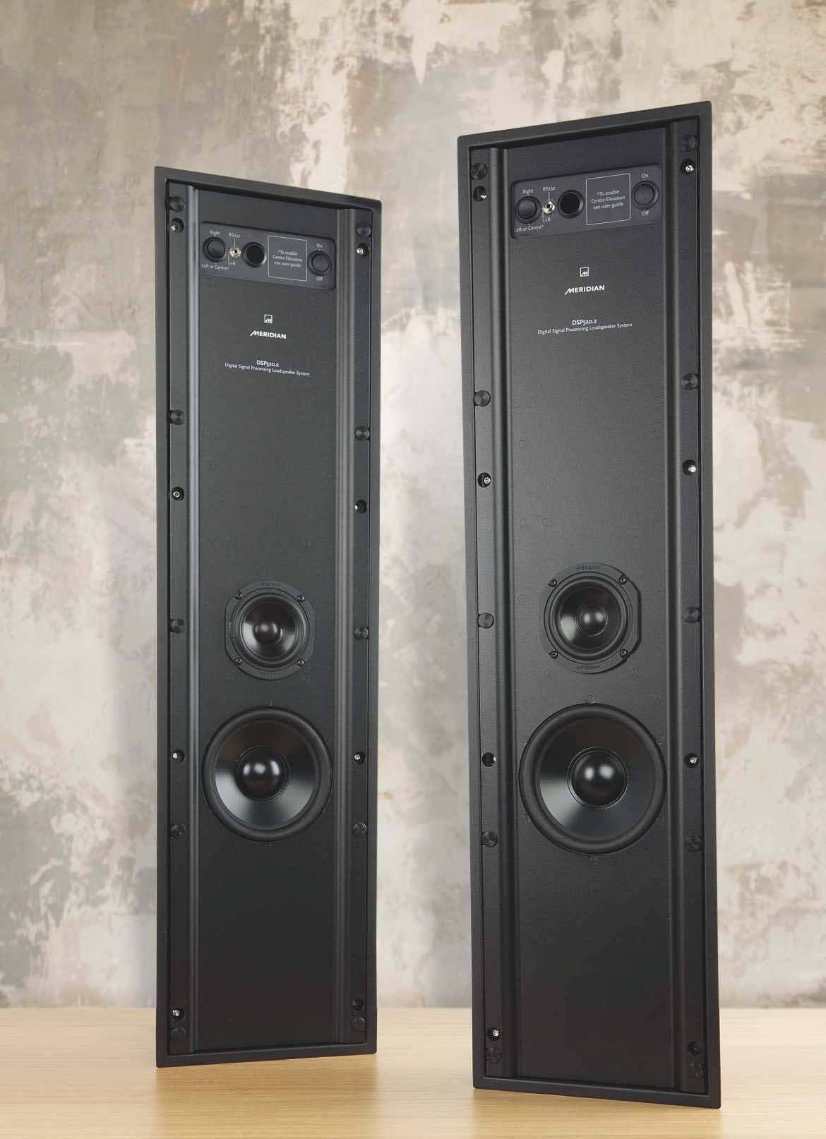 In-wall towers with power