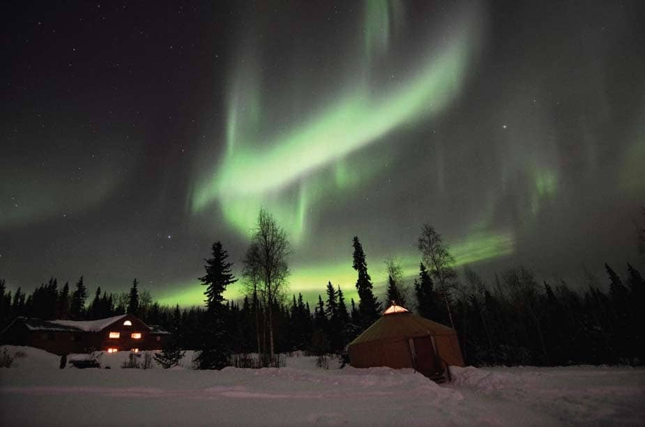 Riding rails in search of the Aurora